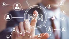 Business button FAQ connection online communication web sign Stock Footage
