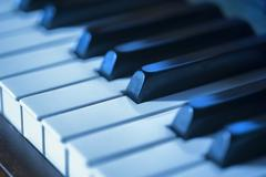 Piano blues Stock Photos