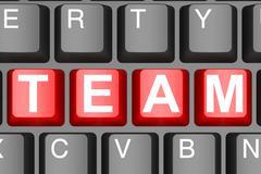 Team button on modern computer keyboard - stock illustration