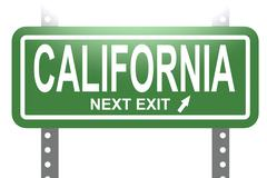 California green sign board isolated Stock Illustration