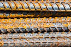 Iron in construction site Stock Photos