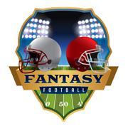 American Fantasy Football Emblem Illustration Stock Illustration