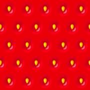 Red strawberry seamless texture pattern with seed - stock illustration
