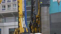 Mobi-Hub machine working on the streets of Berlin - stock footage