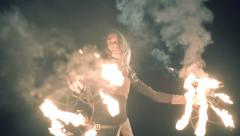Fire Dancer Stock Footage