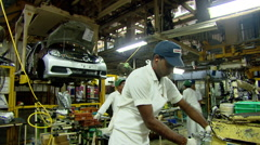 Automobile Manufacturing factory India Stock Footage