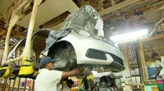 Honda plant Automobile Manufacturing India Stock Footage