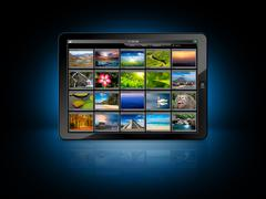 Tablet PC with photo gallery Kuvituskuvat