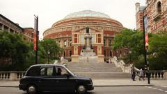 Stock Video Footage of Royal Albert Hall, London