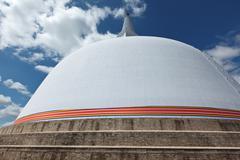Ruwanweliseya Dagoba. Anuradhapura, Sri Lanka Stock Photos