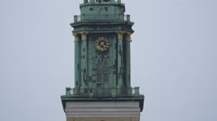 The beautiful tower clock of St Mary's Church in Berlin Stock Footage