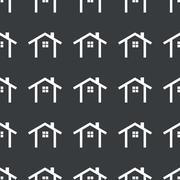 Straight black cottage pattern - stock illustration