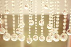 Beautiful crystals hanging - stock photo