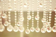 Beautiful crystals hanging - stock photo