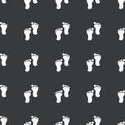 Stock Illustration of Straight black footprint pattern
