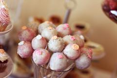 Delicious cakepops - stock photo