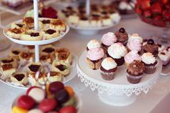 Delicious cupcakes - stock photo