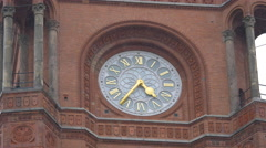 Clock on the tower of City Hall in Berlin Stock Footage