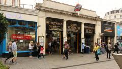 South Kensington station, London Stock Footage