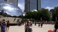 The Bean in Chicago, Illinois - stock footage