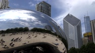 Stock Video Footage of The Bean in Chicago, Illinois
