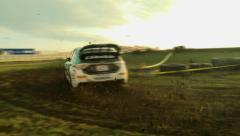 Rally Car Drifting Stock Footage