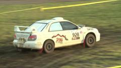 Rally Racing Close Up Stock Footage