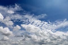 Cloudy Blue Sky Stock Photos