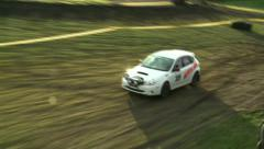 Rally Car Race Lap Stock Footage