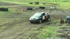 Rally Car Driving Course Stock Footage