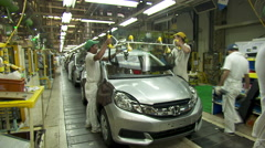 Honda plant Automobile Manufacturing India Stock Footage