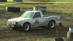 Rally Truck Stock Footage