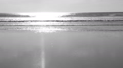 Slow motion Ocean. Black and white. Typespace. Stock Footage