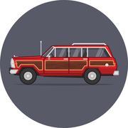 Jeep Grand Wagoneer vector image - stock illustration