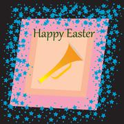 Happy Easter  card - stock illustration