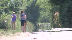 Scorching hot summer day with heat waves rising off pavement and sidewalks Stock Footage