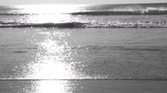 Slow motion Ocean. Black and white. Wave crashing. Stock Footage