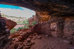 Castle Creek Indian Ruins Utah Stock Photos