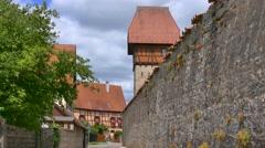 Baeuerlins Turm, Tower, Dinkelsbuhl, Germany Stock Footage