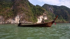 Boat Trip Around Tropical Islands In Phuket. Stock Footage