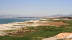 Burdur Lake lake view in Turkey Country Stock Footage