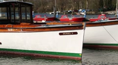 Boats in dock at windermere, Lake District, Cumbria, UK Stock Footage