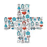 Stock Illustration of Medical Cross Shape