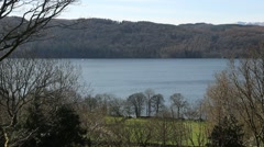 Lake Windermere, Lake District, Cumbria, UK Stock Footage