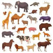 Big Animals Set Stock Illustration