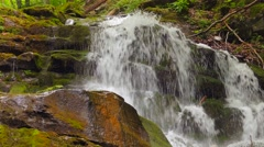 4k, Waterfall in the mountains near the village Pylypets, Carpathians - stock footage