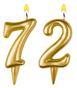 Birthday candles number seventy two Stock Photos