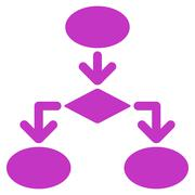 Stock Illustration of Flowchart Icon from Commerce Set