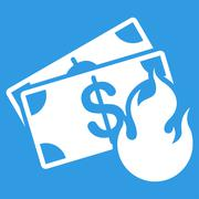 Stock Illustration of Fire Accident Icon from Commerce Set
