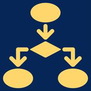 Flowchart Icon from Commerce Set - stock illustration